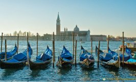 Gondolas off the Piazetta, San Marco, Venice