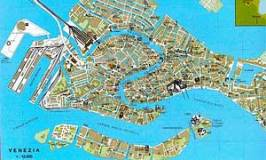 Maps of Venice Historic City Centre and the Lagoon