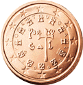 2 cent coin (back)