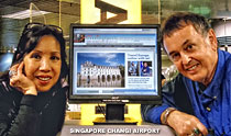 Helen and Tony Page at Singapore Changi Airport