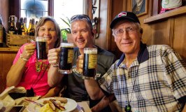 Drinking Rauchbier on the Bamberg Beer Experience Tour