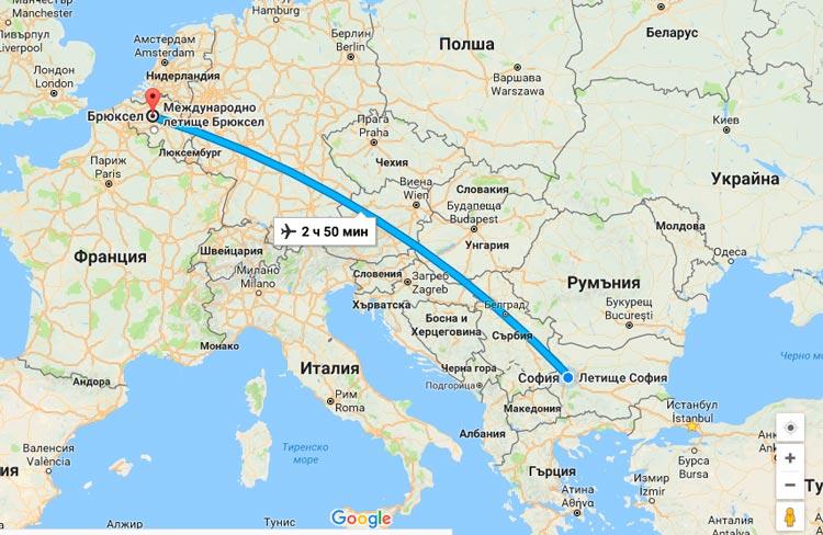 евтини самолетни билети до брюксел от българия