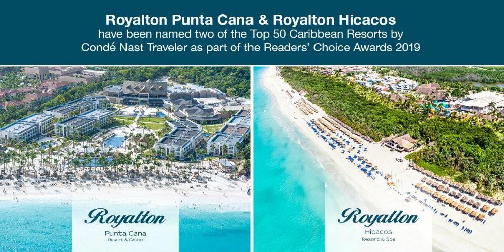 Conde Nast readers choice 2019 royalton punta cana royalton hicacos travelsmart vip