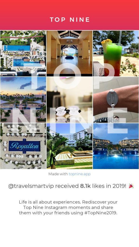 TravelSmart VIP Instagram Top Nine Images of 2019