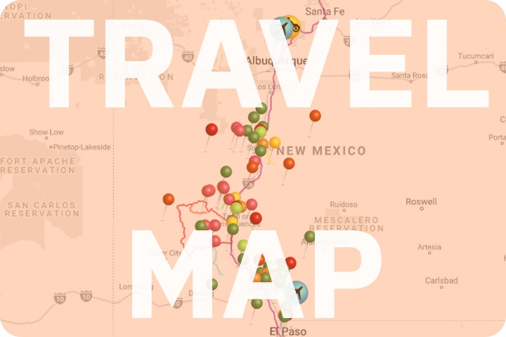 Link to the interactive travel map for South Central New Mexico