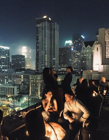 Rooftop party in LA