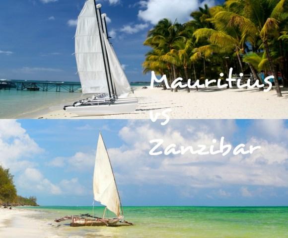 A hobie cat in Mauritius vs a traditional dhow in Zanzibar