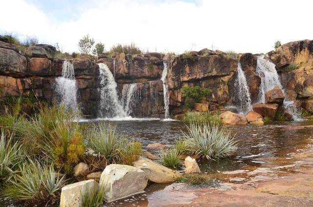 Waterfalls and rock pools make for great summer camping at Beaverlac in the Cederberg.