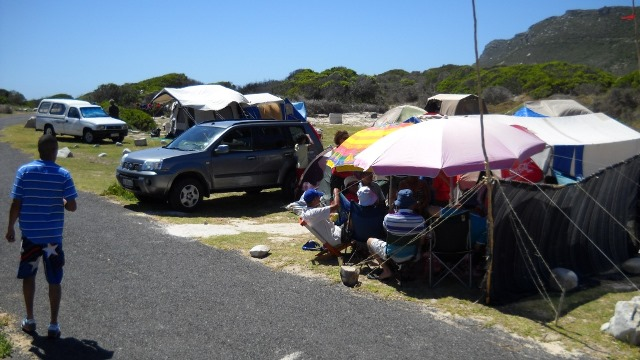 Soetwater Resort is a seaside campsite on the Cape Peninsula.