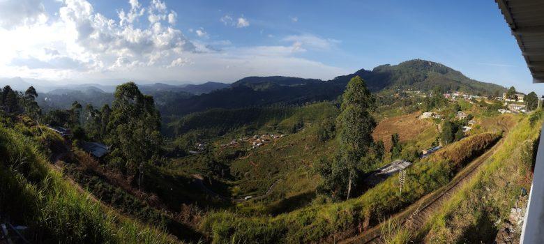 view from train backpacking Sri Lanka