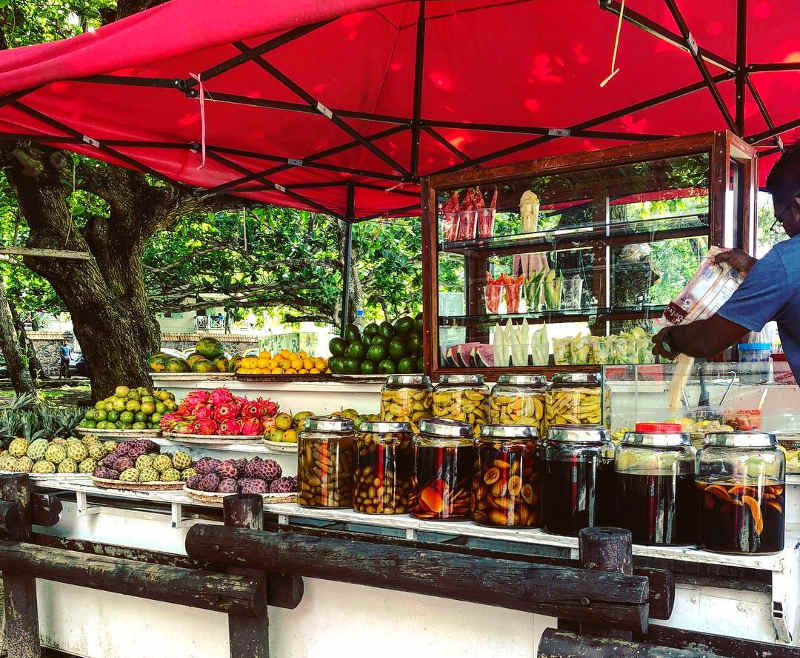 fruit stand mauritius