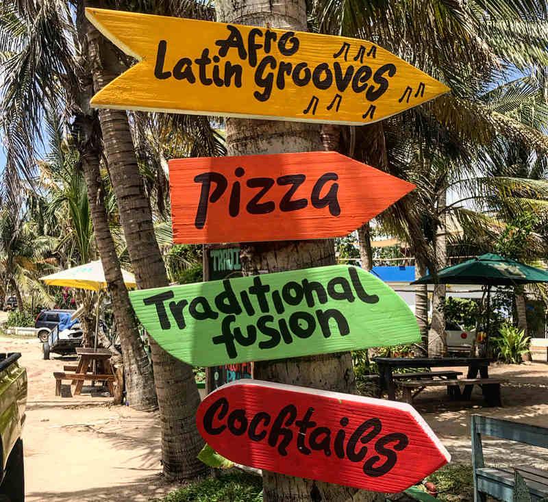 mozambique beach signs
