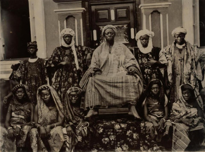 A Nigerian chief with his family, 1910