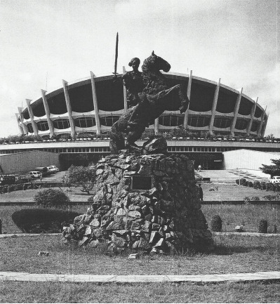 Ben Ekanem's equestrian Statue of Queen Amina- National Theatre Lagos, 1980