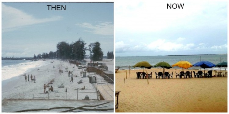 Lagos Bar Beach - Then-&-Now