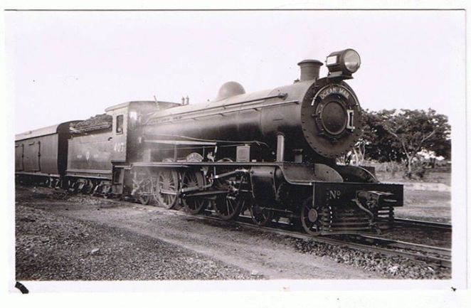 The Lagos - Kaduna railway. This picture was taken in 1936