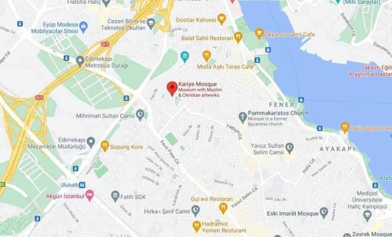 Chora Mosque map