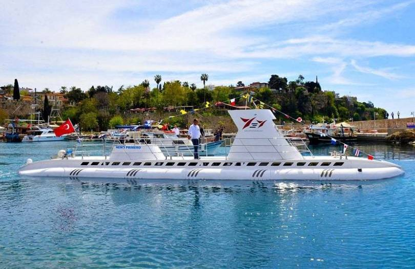 Submarine in the Marina Kaleici Antalya
