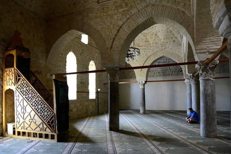 Yivliminare Mosque shows off the architectural beauty.