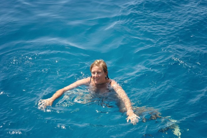 """Io """"a mollo"""" nelle bellissime acque di Marettimo"""