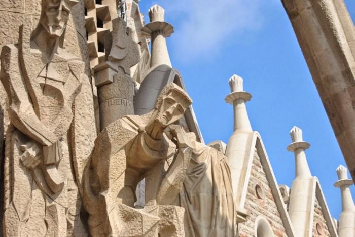 Un dettaglio di una delle 3 facciate della Sagrada Familia