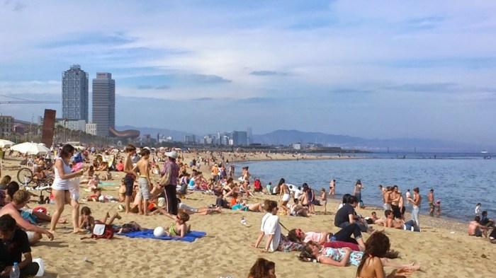Relax in spiaggia alla Barceloneta