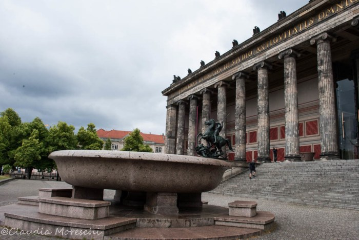 L'ingresso dell'Altes Museum di Berlino