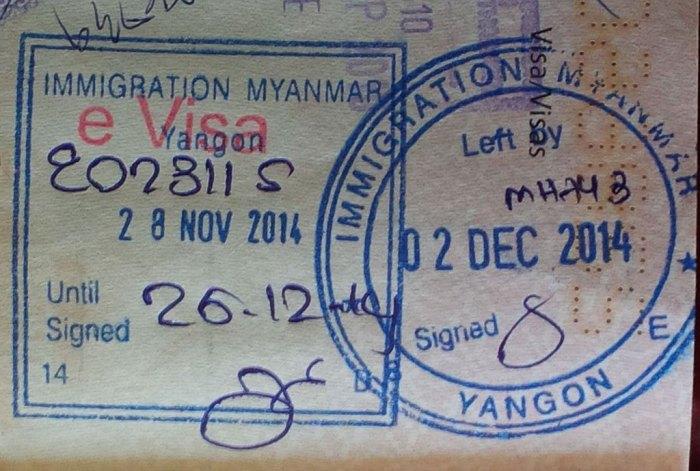 Informazioni visto per il Myanmar