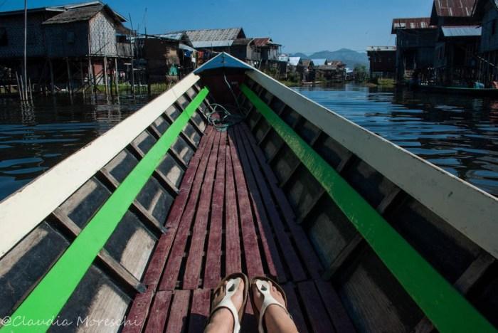 In barca sul lago Inle