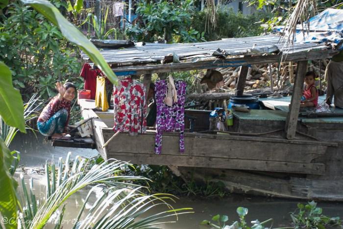 Una house-boat sul Mekong nella zona del Delta