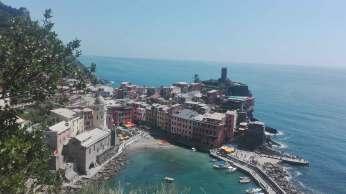 Il borgo di Vernazza visto dall'alto
