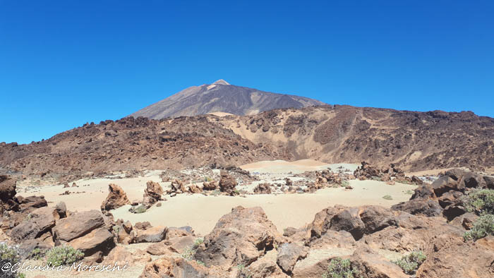 Il paesaggio quasi lunare del Teide