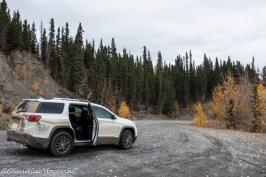 On the road in Alaska