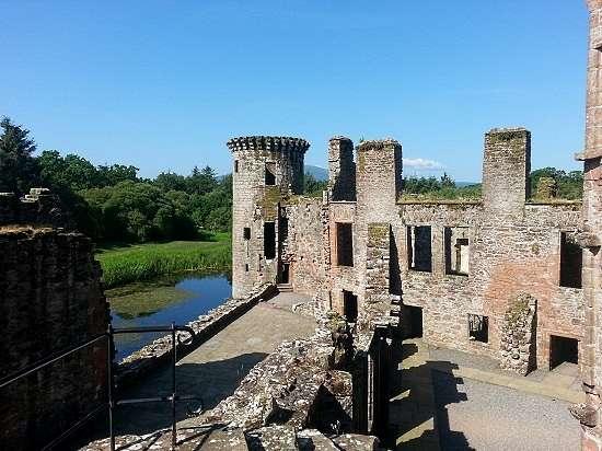 internal shot of caerlaverock castle
