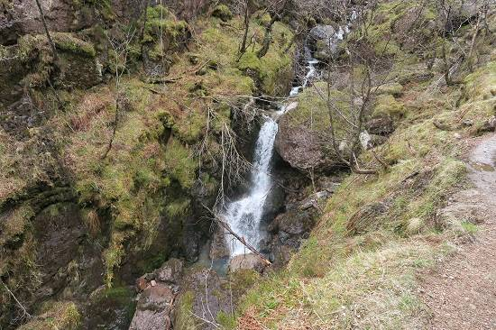 great scottish walks waterfall glen coe.