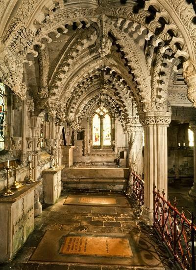 inside rosslyn chapel things to do around edinburgh