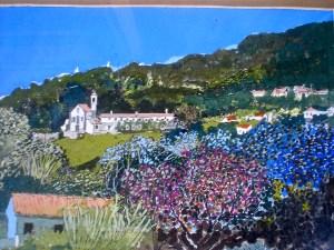 Church on the hillside of Penedo in Portugal