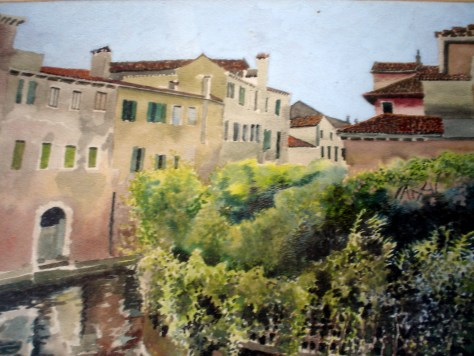 A painting of a Venetian canal