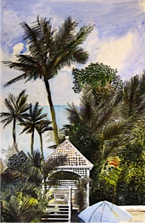 Australian Artist Noel Jacksons's painting of Mission Beach, Queensland
