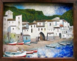 Idle boats on the coast of Spain
