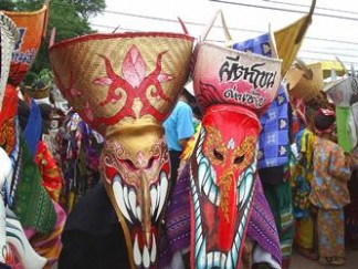 Thailand travel specialist, Ghost festival Thailand, Festivals Thailand, Phi Ta Khon Festival, Dan Sai travel | Travels with Teri