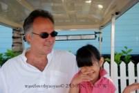 Little Yao Yao with Dad on Harbour Island