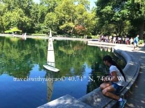 Yao Yao Sailing in Central Park, New York, NY