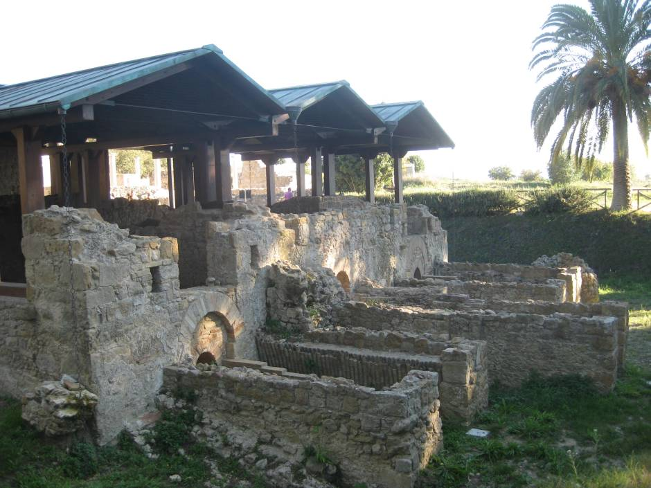 Extensive ruins at Villa Romana del Casale, near Pizza Armerina, Sicily.
