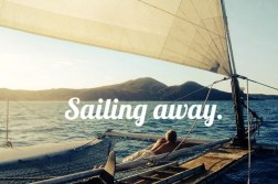 Sailing on a catamaran