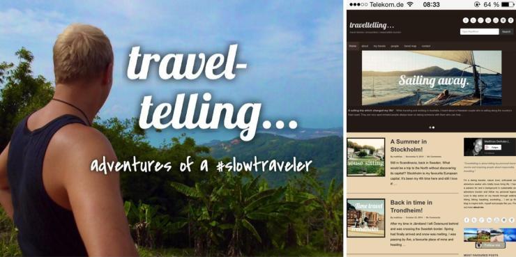 TravelTelling 1st Design - Reiseblog Geburtstag