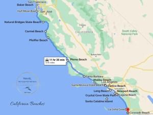 California Beaches Map | Guide to California Beaches