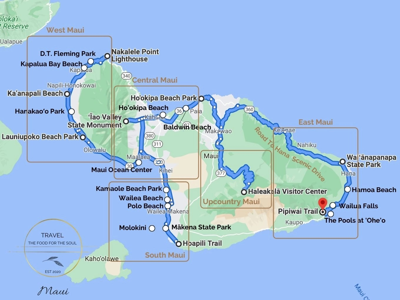 Maui Attractions Map