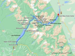 Going-to-the-Sun Road Map