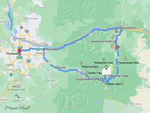 Mount Hood Attractions Map and Travel Guide